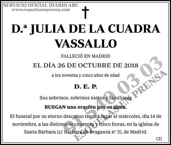 Julia de la Cuadra Vassallo